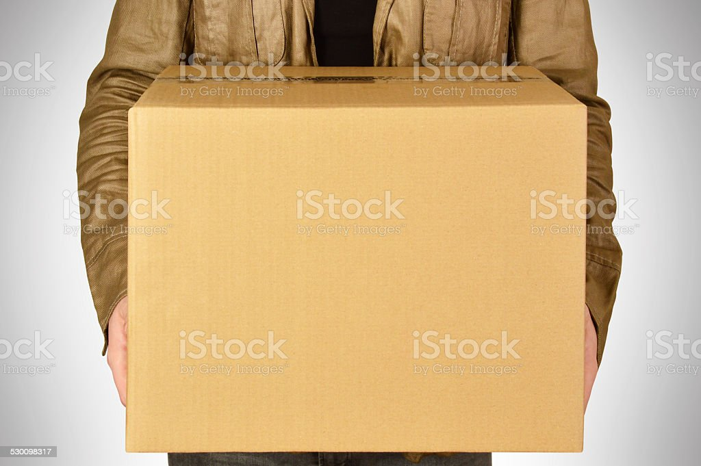Cardboard Box (Click for more) stock photo
