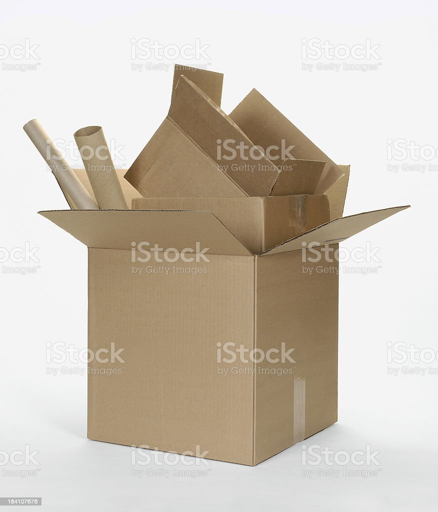 Cardboard Box Stack royalty-free stock photo