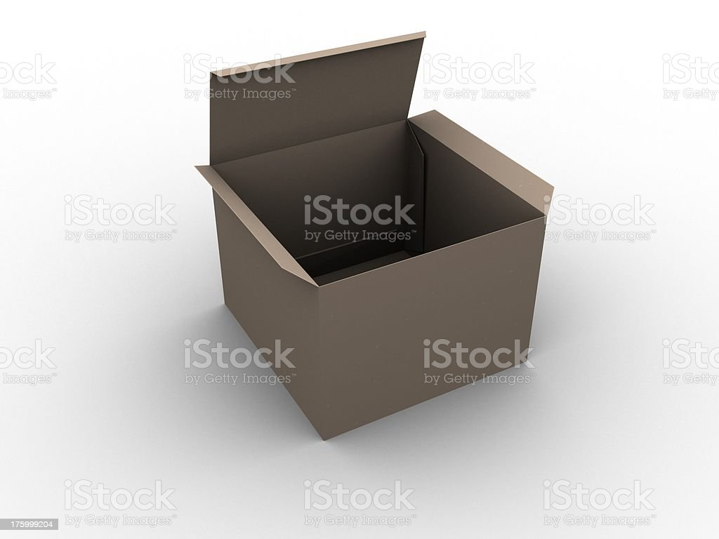 Cardboard box view perspective royalty-free stock photo