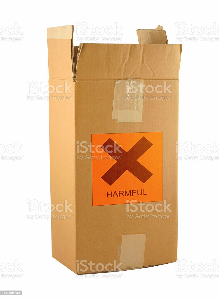 cardboard box with harmful content #2 royalty-free stock photo