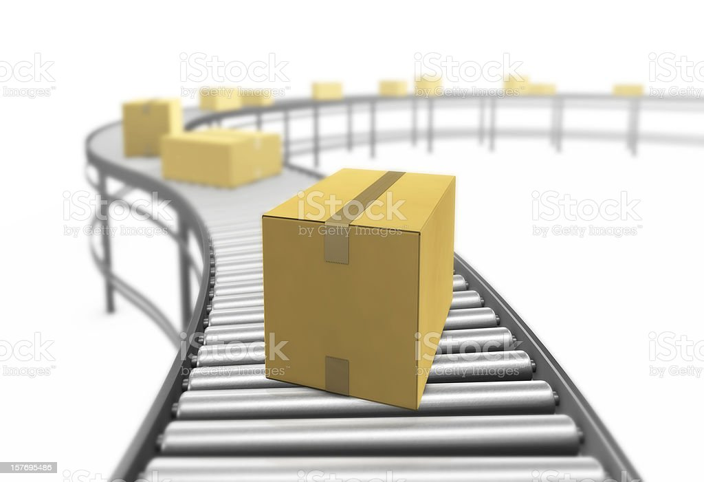 Cardboard boxes. 3D render. royalty-free stock photo
