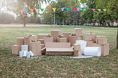 Cardboard boxes and packaging supply for moving