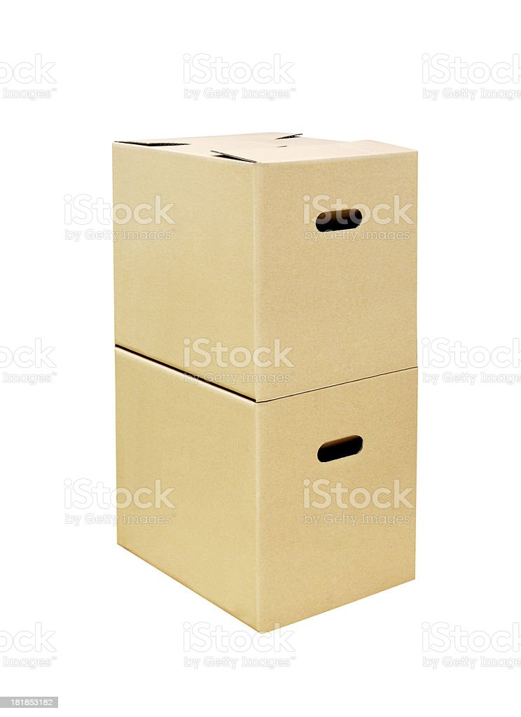 Cardboard Boxes + Clipping Path royalty-free stock photo