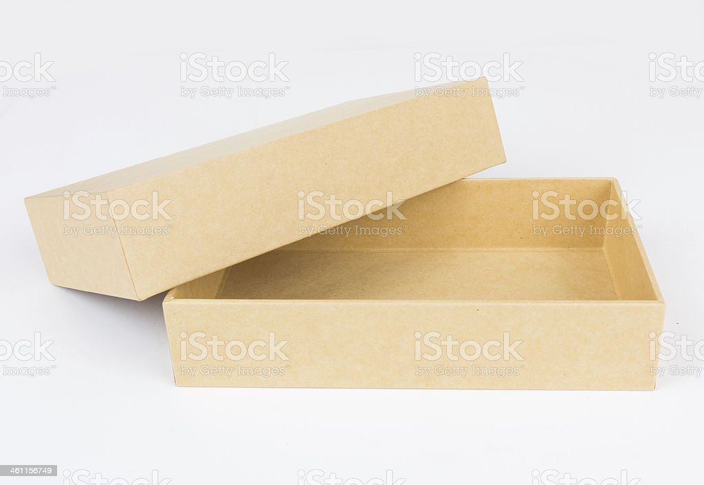 cardboard boxes isolated on white background, stock photo