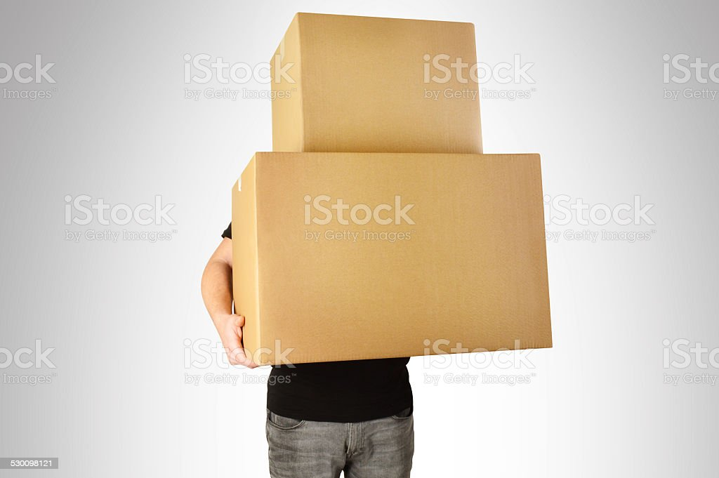 Cardboard Boxes (Click for more) stock photo