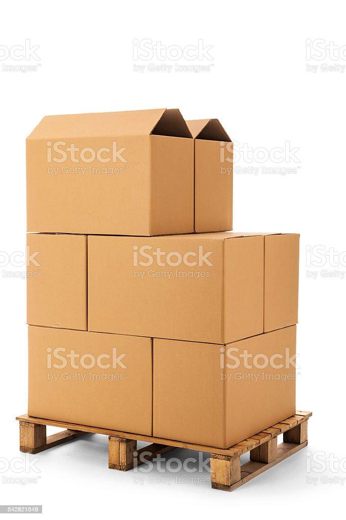 cardboard boxes stock photo