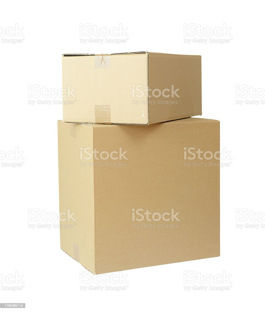 cardboard boxes stack package royalty-free stock photo