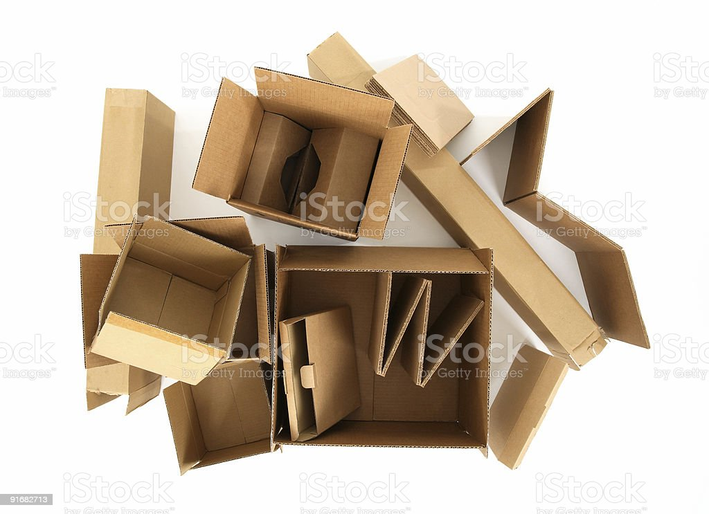 Cardboard boxes, view from top royalty-free stock photo