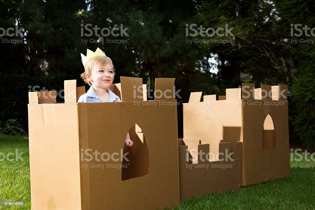 Cardboard Castle stock photo