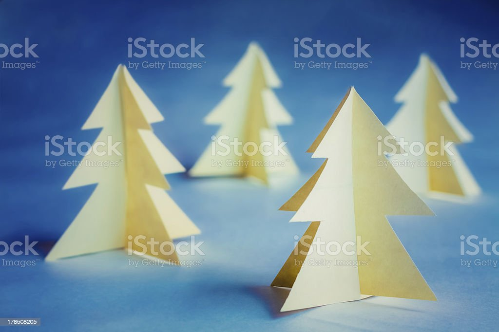 Cardboard Christmas Trees royalty-free stock photo