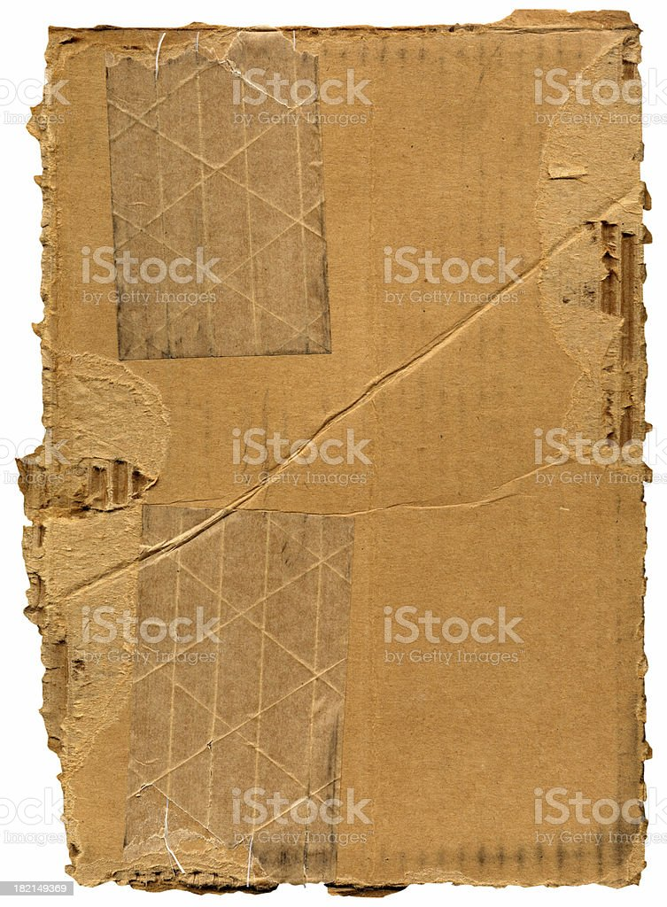 Cardboard Chunk Background royalty-free stock photo