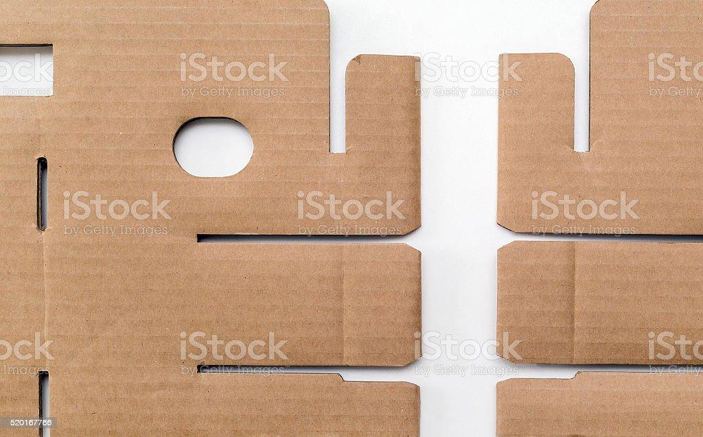 cardboard, close-up stock photo