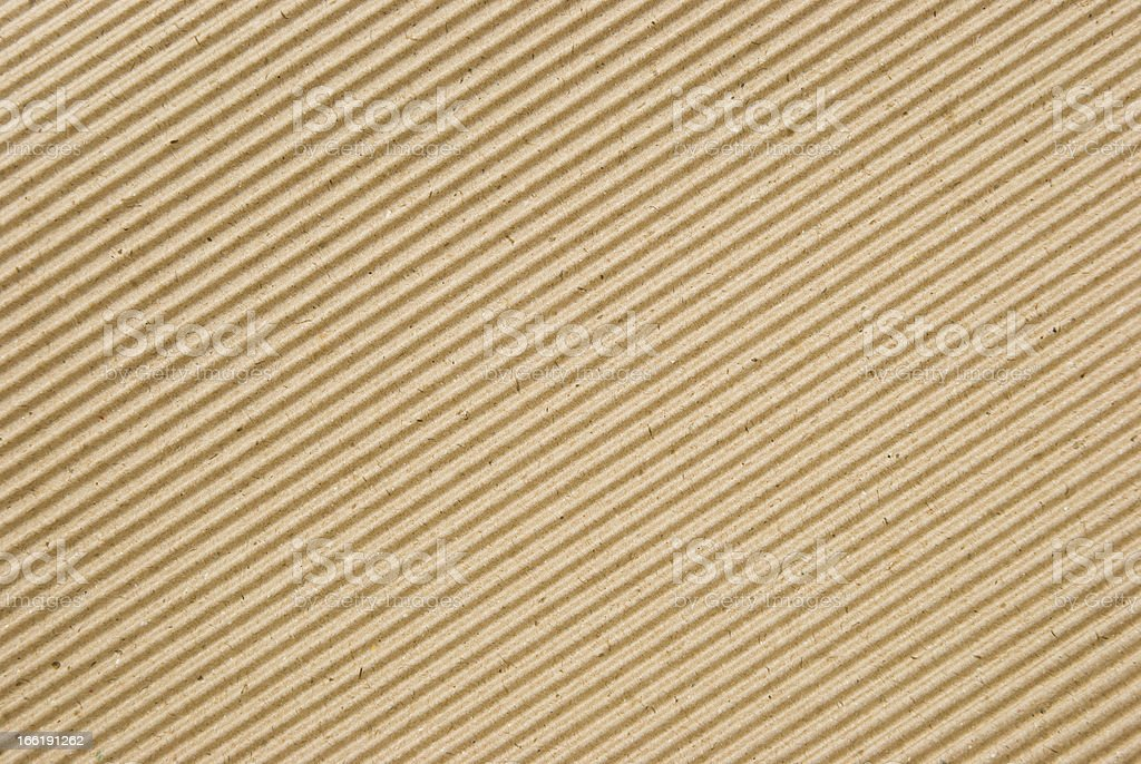 cardboard corrugated pattern background, angled royalty-free stock photo