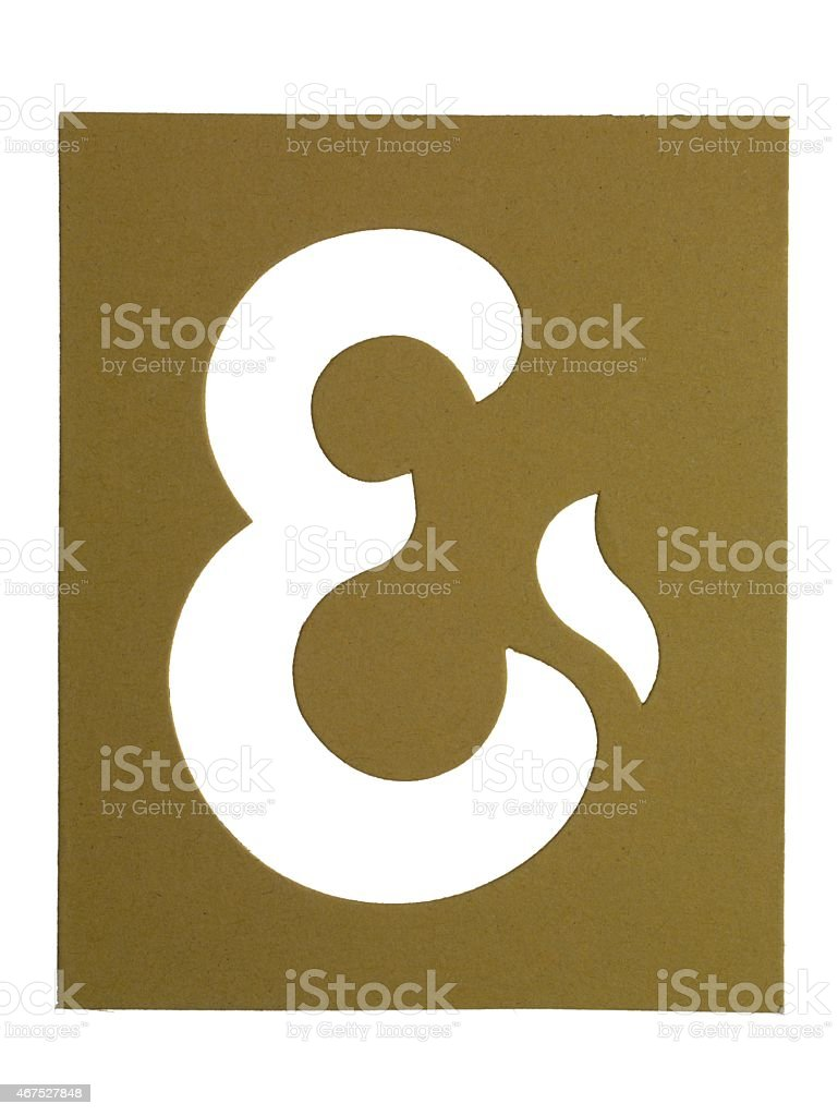 cardboard cut out sign stock photo