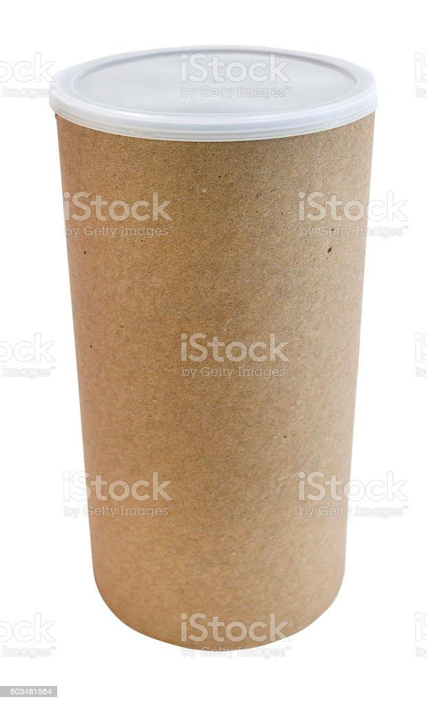 Cardboard Cylinder Box stock photo