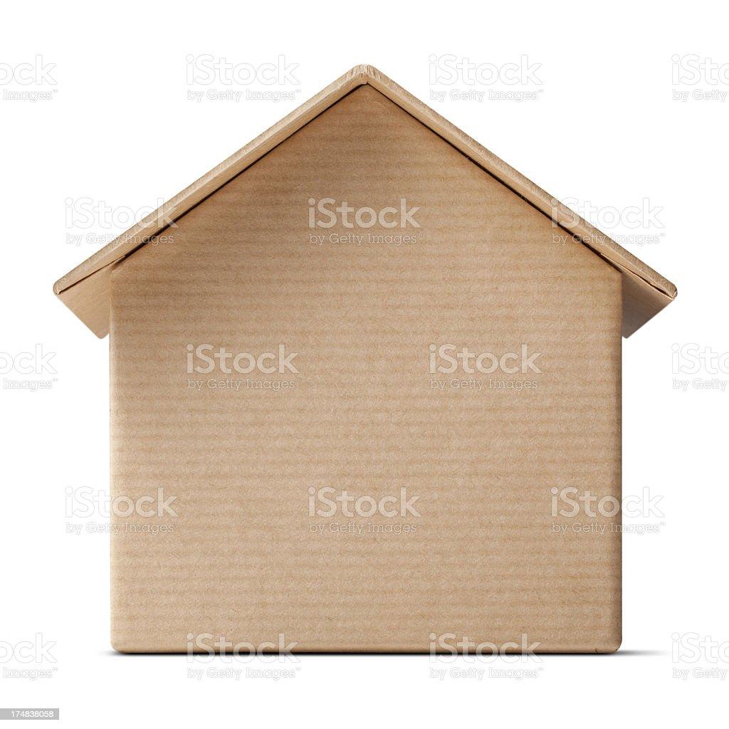 Cardboard house royalty-free stock photo