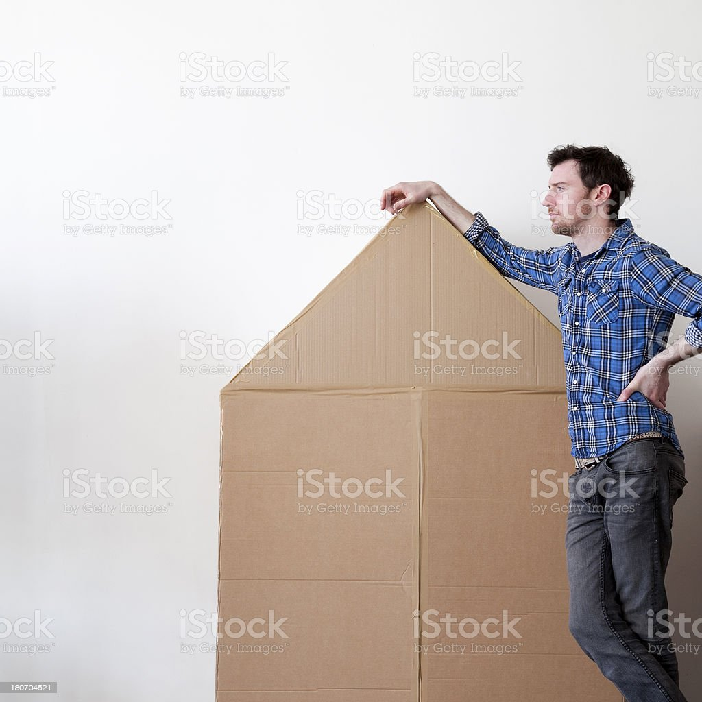 Cardboard house royalty-free stock photo