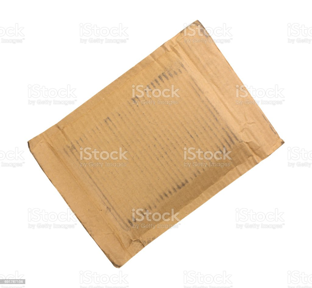 Cardboard mailer stock photo