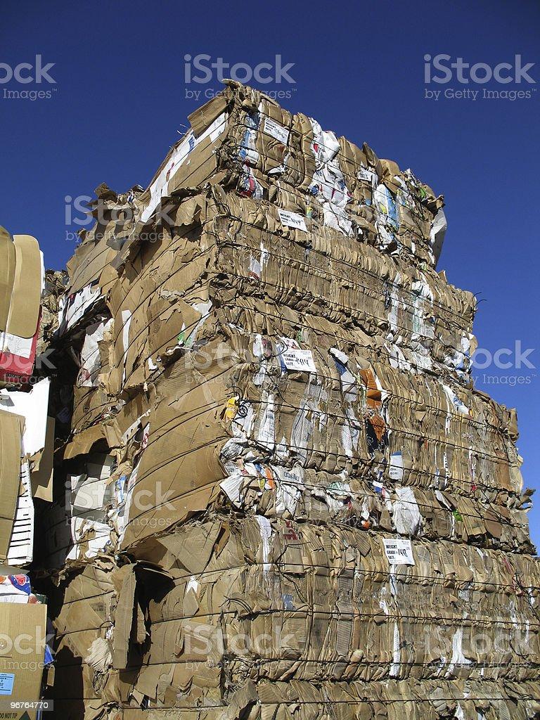 Cardboard Monolith stock photo