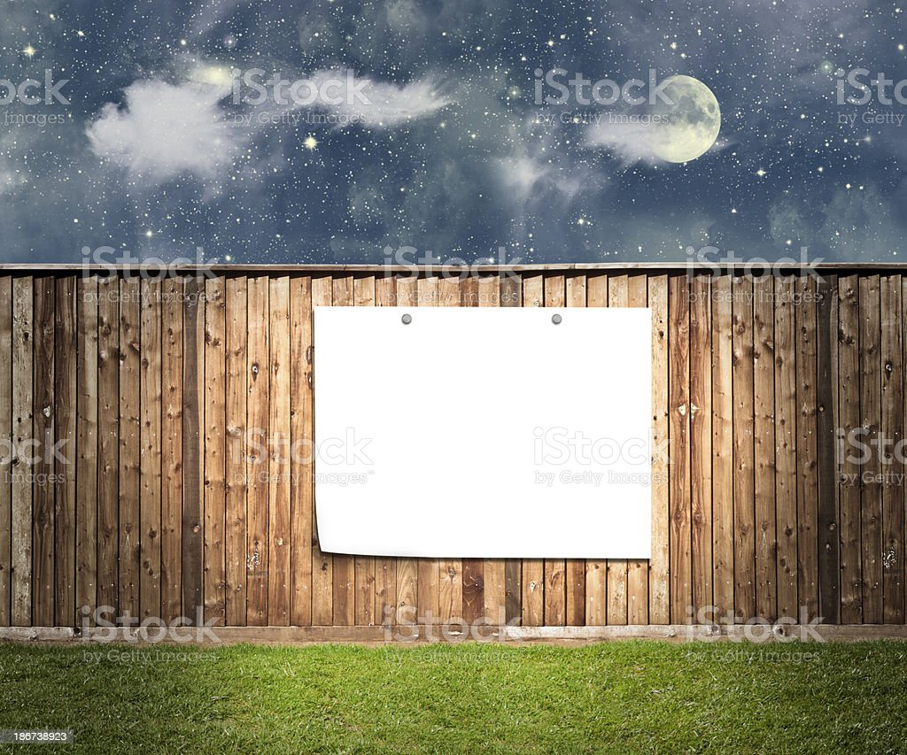 cardboard on the wall royalty-free stock photo