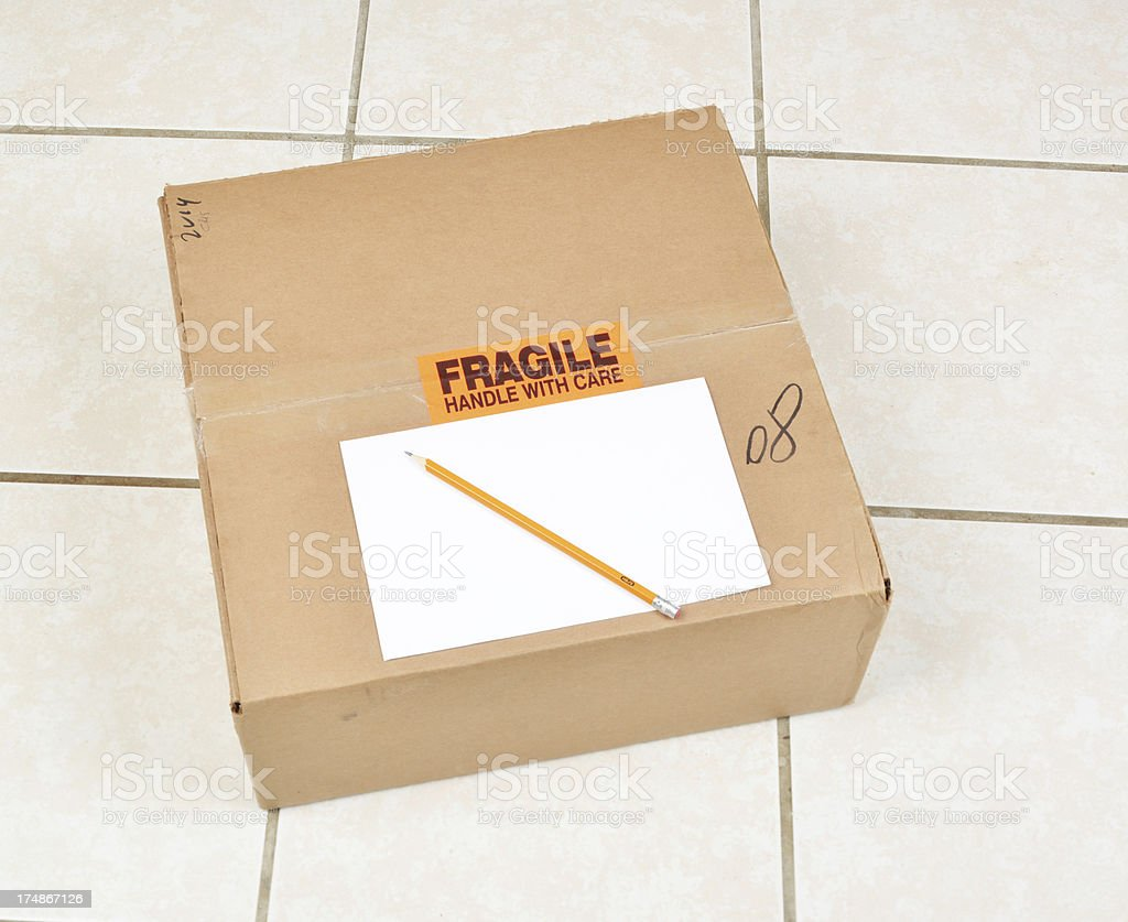 cardboard package royalty-free stock photo