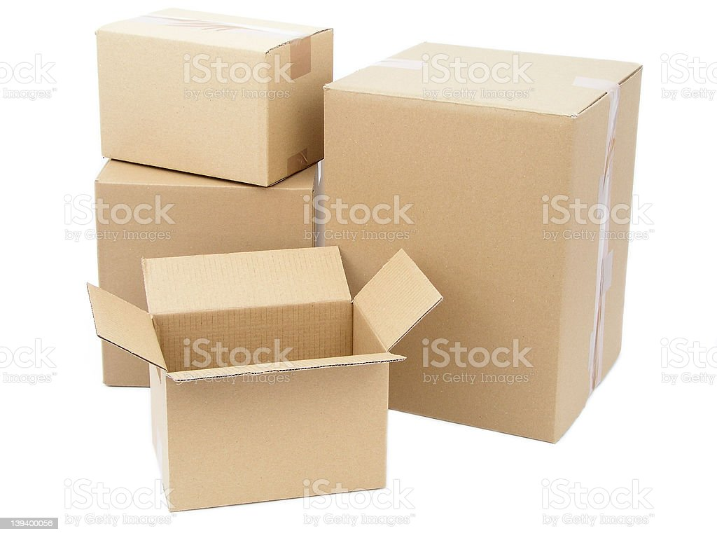 Cardboard Packages royalty-free stock photo