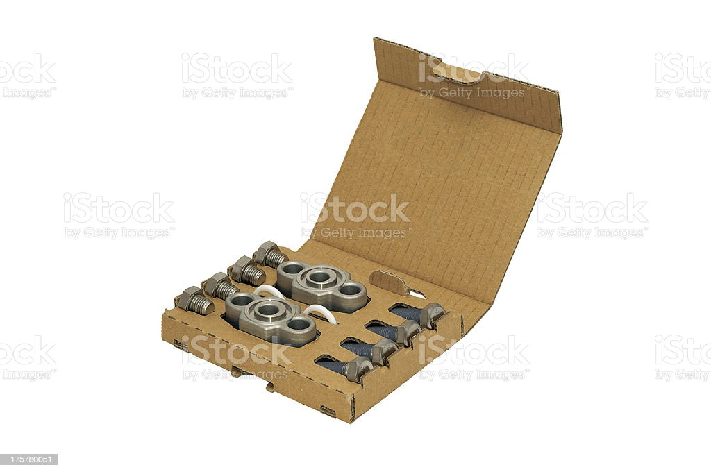 Cardboard packaging with the details. royalty-free stock photo
