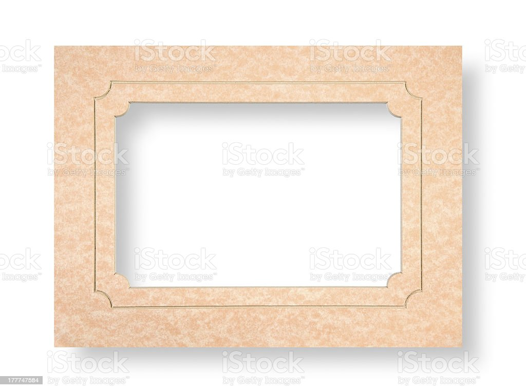 Cardboard passepartout royalty-free stock photo