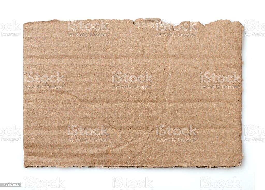 Cardboard piece stock photo