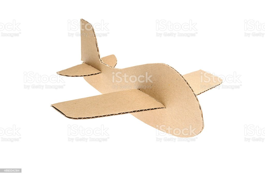 cardboard plane stock photo