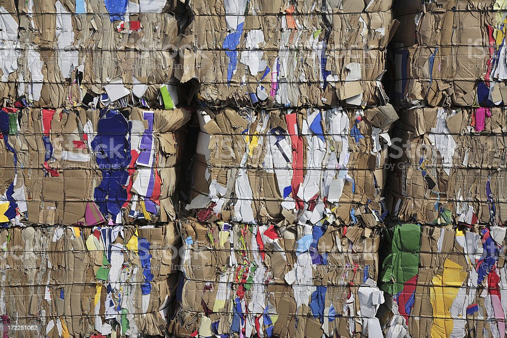 Cardboard Ready For Recycling royalty-free stock photo
