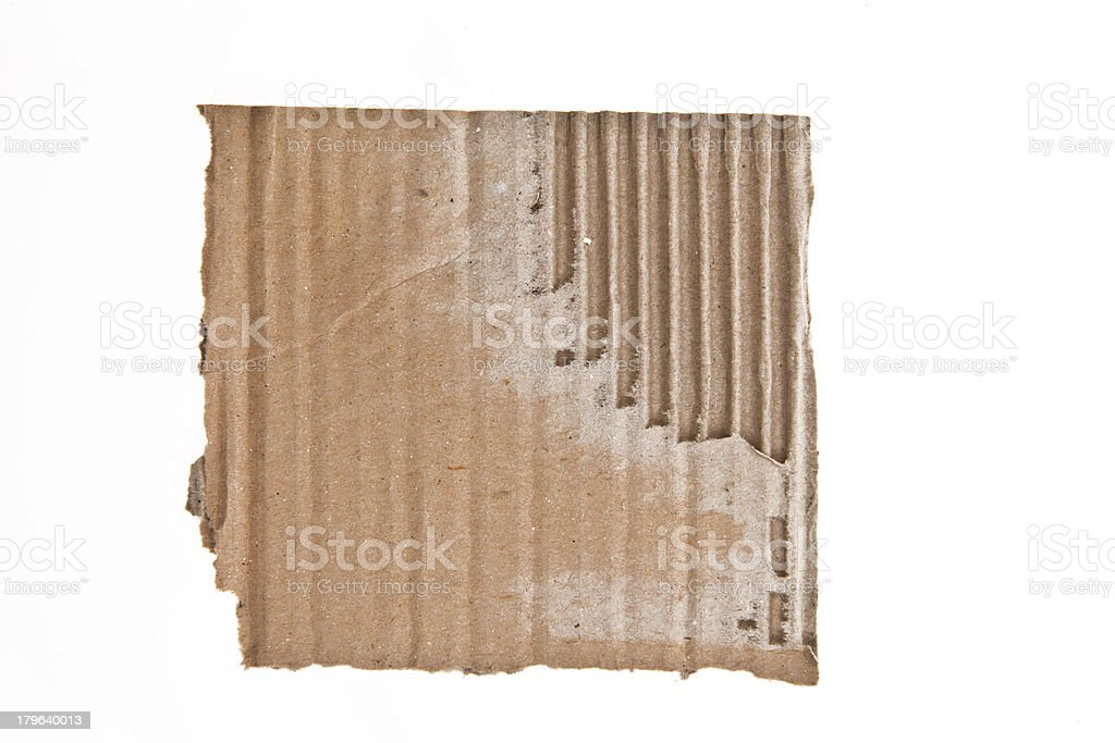 Cardboard Scrap royalty-free stock photo