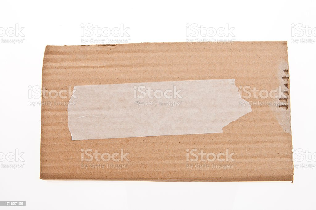 Cardboard Scrap royalty-free stock photo