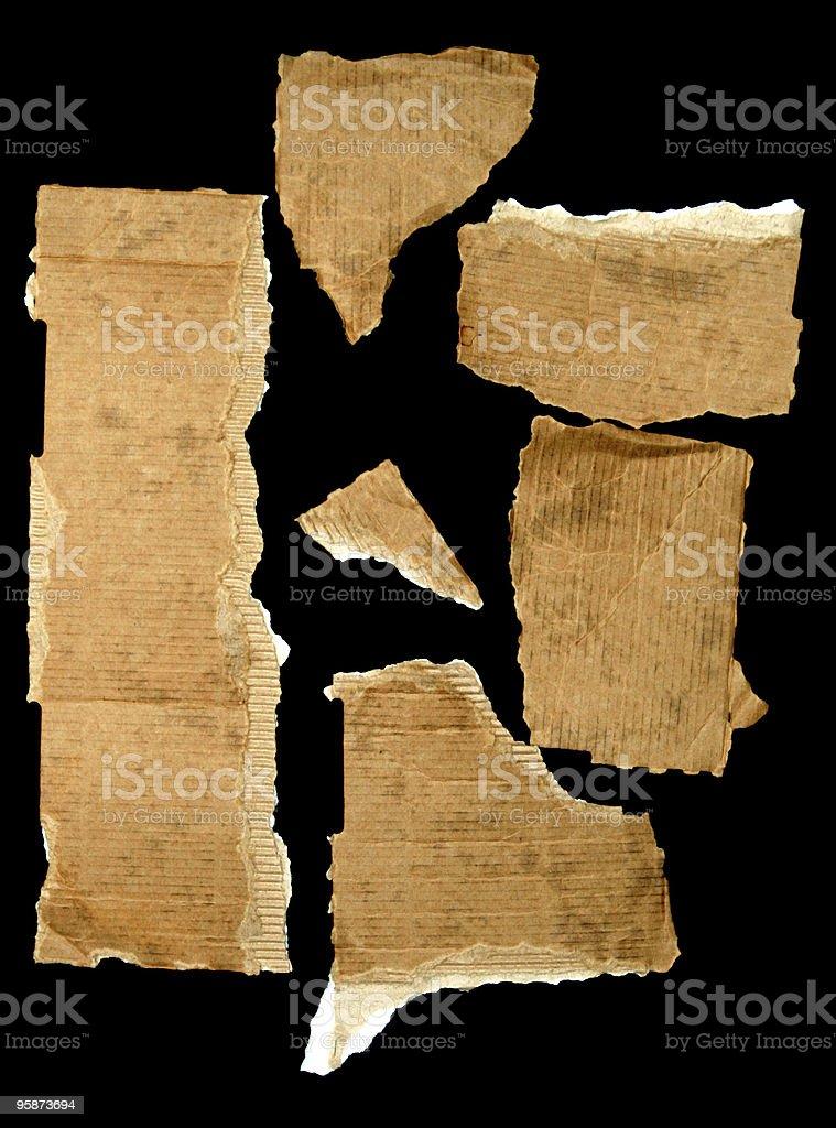 cardboard scraps royalty-free stock photo