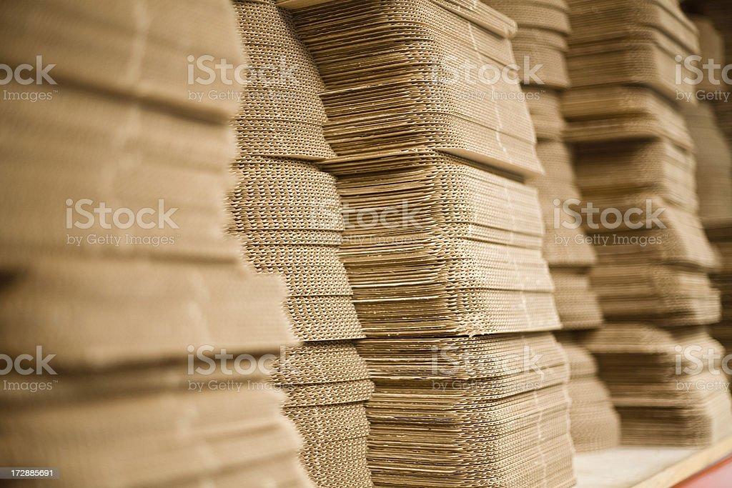 Cardboard stacks stock photo
