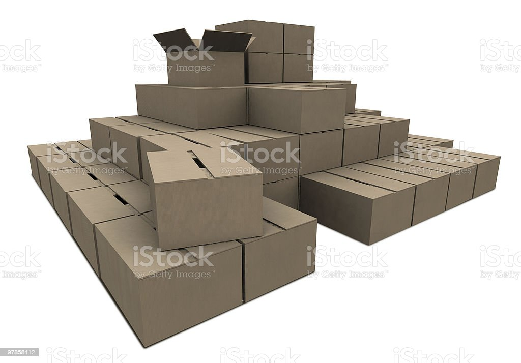 Cardboard Stock royalty-free stock photo