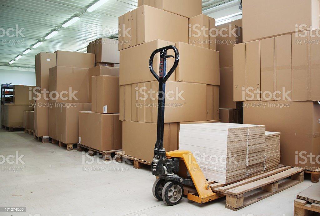 Cardboard, storage boxes royalty-free stock photo