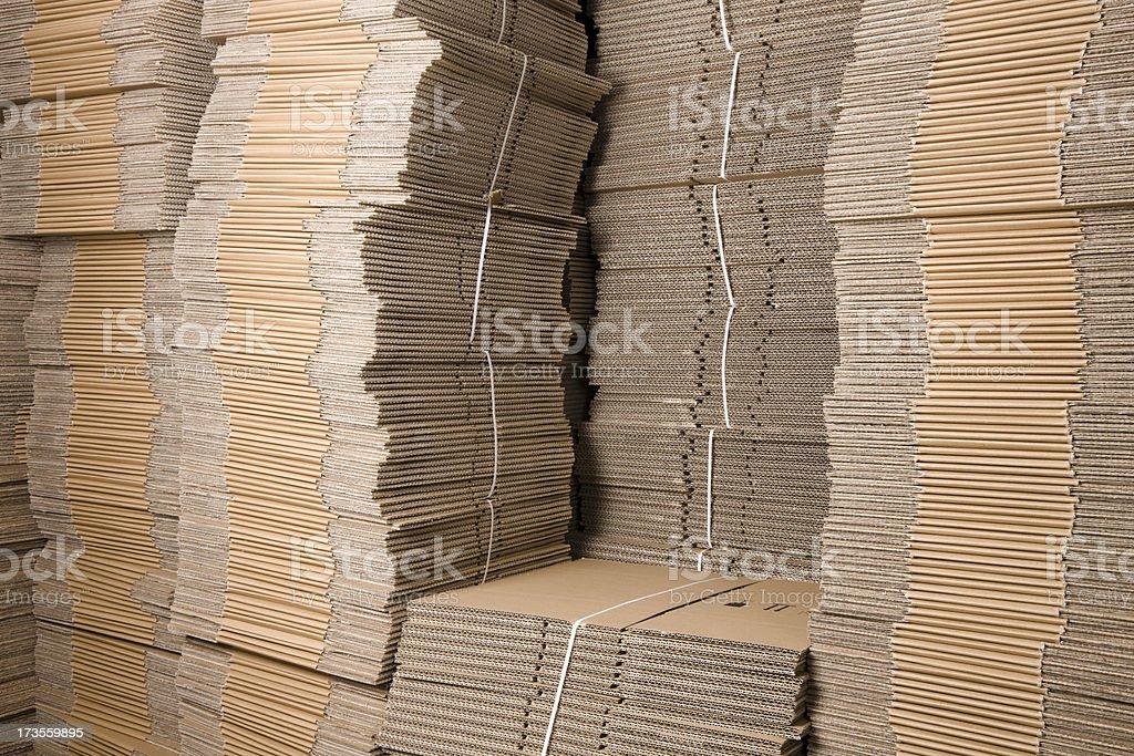 Cardboard Storage stock photo