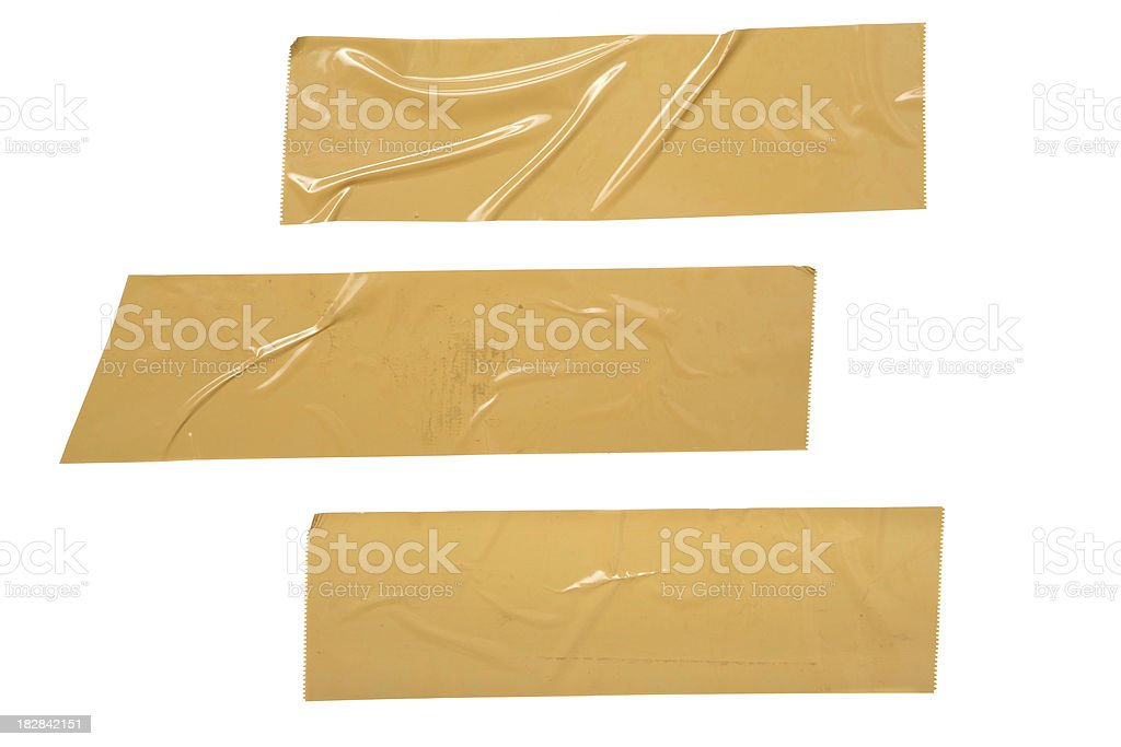 Cardboard Tape stock photo