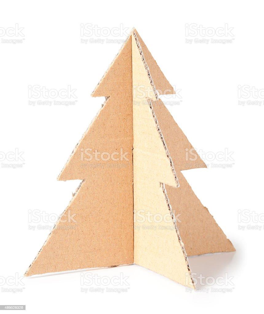 Cardboard tree stock photo