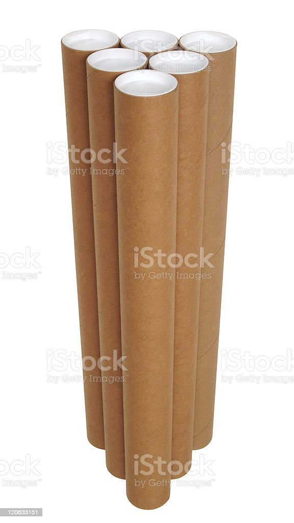 Carton tubes. royalty-free stock photo