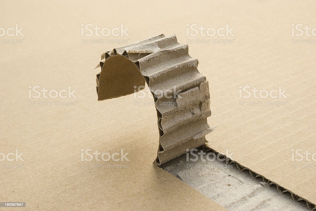 cardboard with a cut off section royalty-free stock photo