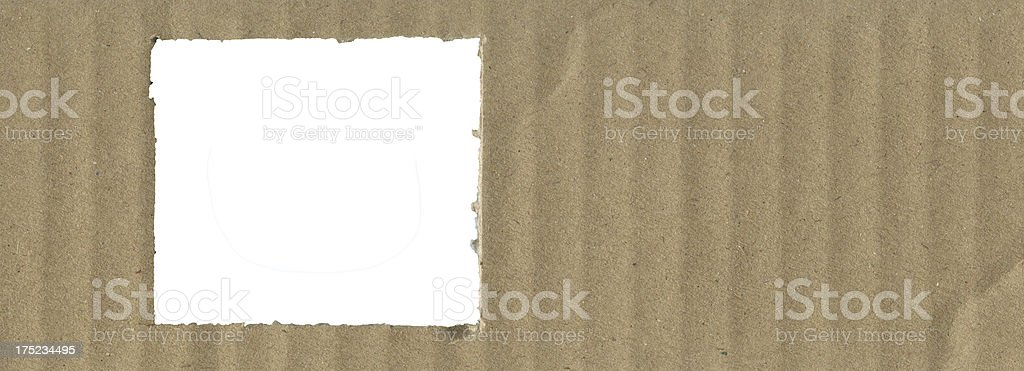 cardboard with Blank space royalty-free stock photo