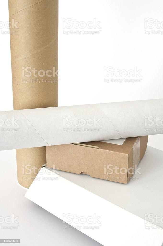 Cardboards royalty-free stock photo
