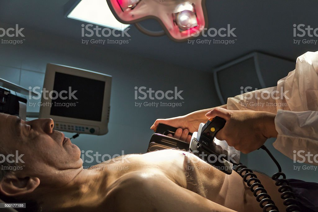 Cardiac emergency stock photo