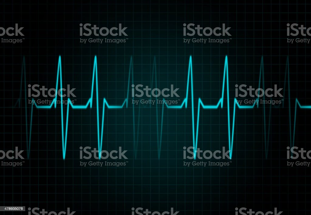 Cardiac Frequency in blue Color vector art illustration