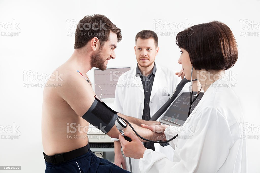 cardiac stress test stock photo