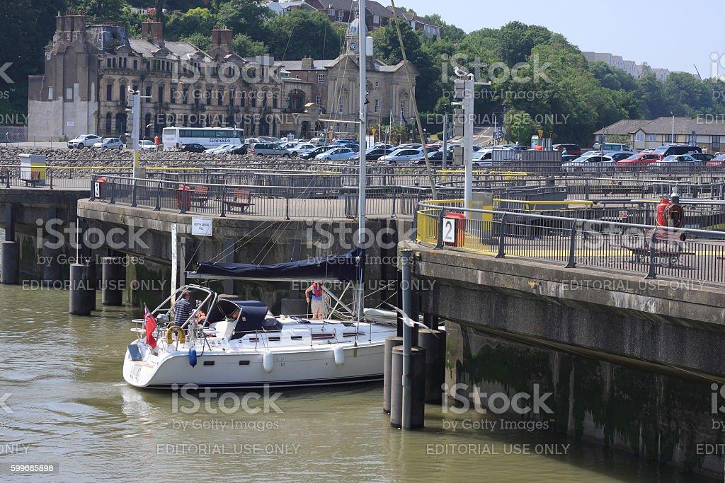 Cardiff Bay Barrage stock photo