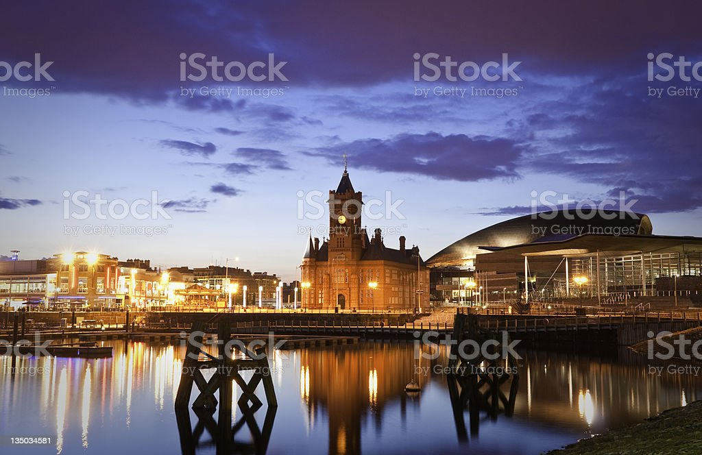 Cardiff Bay Cityscape royalty-free stock photo