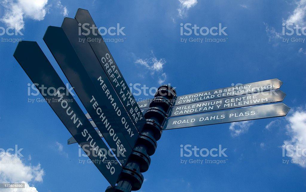 cardiff bay directions stock photo